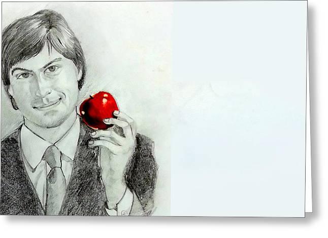 Mayur Sharma Greeting Cards - Steve Jobs Greeting Card by Mayur Sharma
