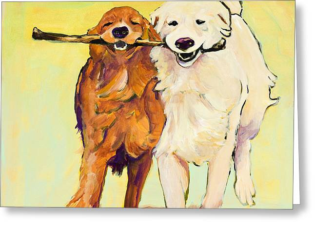 Clone Greeting Cards - Stick With Me Greeting Card by Pat Saunders-White