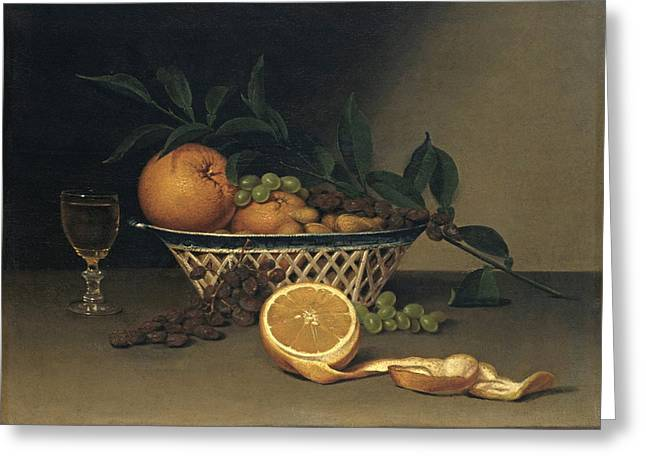 Peale Greeting Cards - Still Life with Oranges Greeting Card by Raphaelle Peale