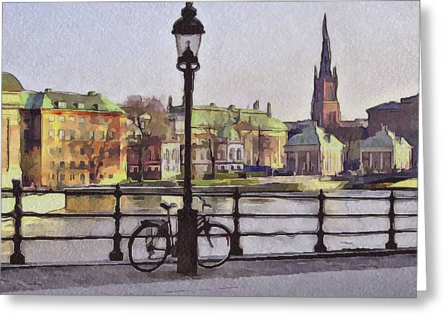 Urban Nature Study Greeting Cards - Stockholm 6 Greeting Card by Yury Malkov