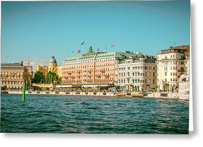 Grand Hotel Greeting Cards - Stockholms Grand Hotel Greeting Card by Mountain Dreams