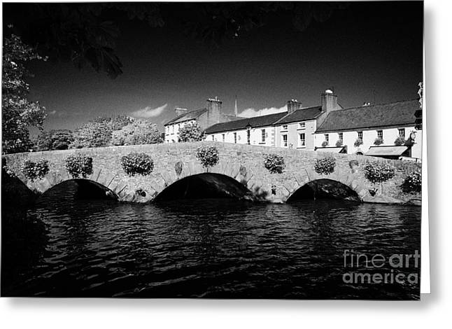 Westport Greeting Cards - Stone Bridge On The Castlebar Road Over The Carrowbeg River South Mall Westport County Mayo Republic Of Ireland Greeting Card by Joe Fox