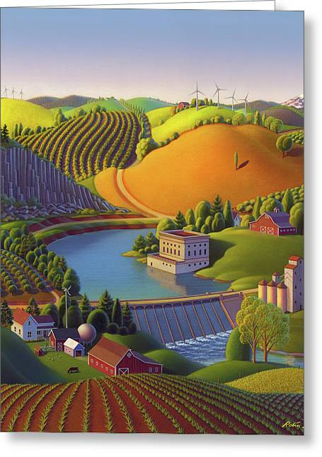 Rolling Hills Greeting Cards - Stone City West Greeting Card by Robin Moline