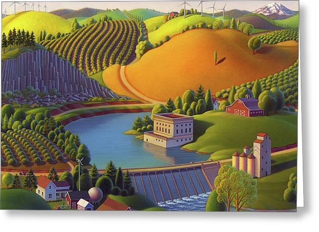 Washington State Greeting Cards - Stone City West Greeting Card by Robin Moline