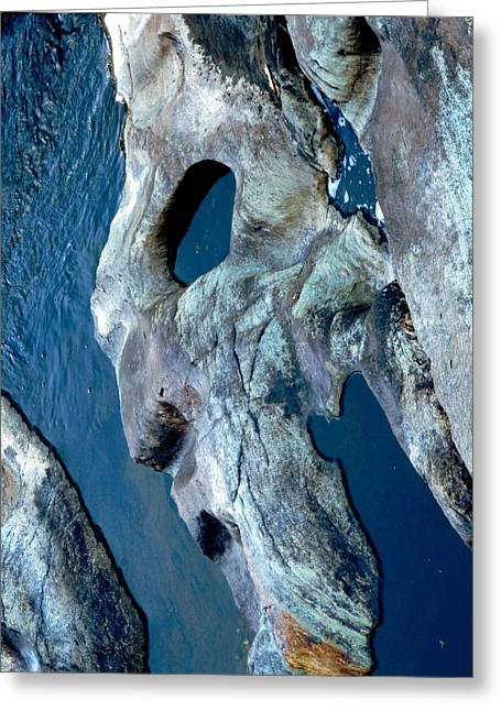 Stone Face Greeting Card by Marcia Lee Jones