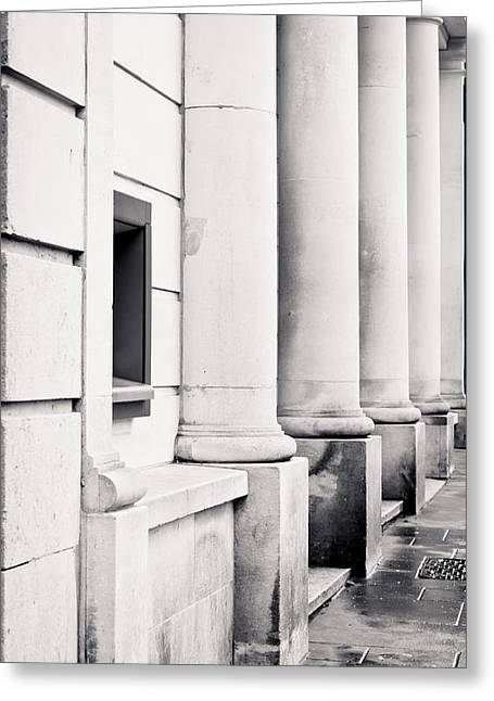 Library Greeting Cards - Stone pillars Greeting Card by Tom Gowanlock