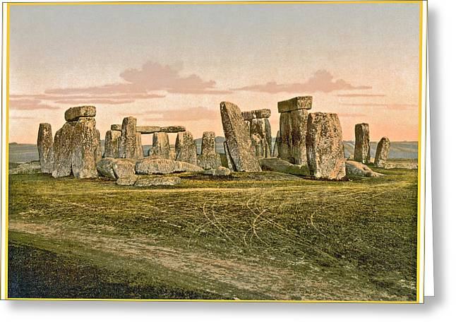 Antique Digital Art Greeting Cards - Stonehenge Greeting Card by Gary Grayson