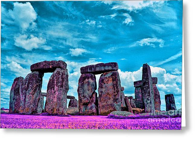 Historical Buildings Greeting Cards - Stonehenge in the English county of Wiltshire Greeting Card by Celestial Images