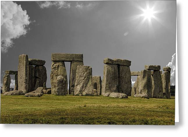 Solstice Greeting Cards - Stonehenge Greeting Card by Martin Newman