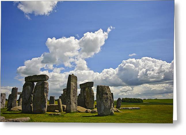 Mid Summer Greeting Cards - Stonehenge Greeting Card by Matthew Gibson