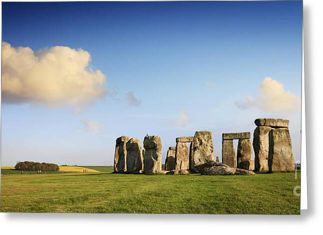 Megalith Greeting Cards - Stonehenge Summer Evening Greeting Card by Colin and Linda McKie