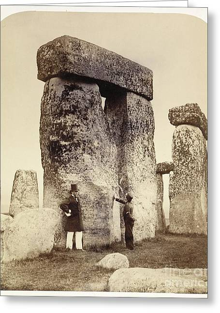 Surveying Greeting Cards - Stonehenge Survey, 1860s Greeting Card by British Library