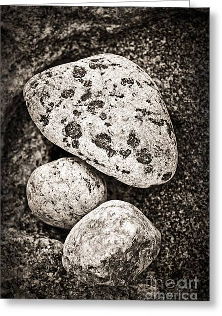 Pebbles Greeting Cards - Stones Greeting Card by Elena Elisseeva