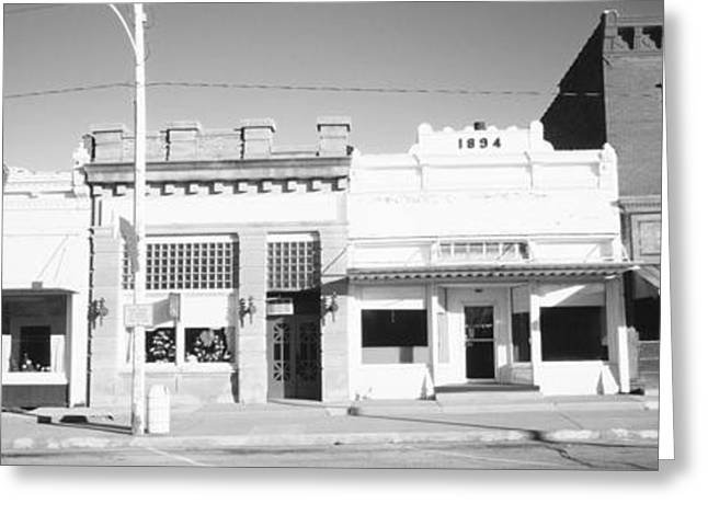 Main Street Greeting Cards - Store Fronts, Main Street, Small Town Greeting Card by Panoramic Images