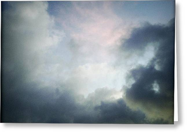 Grey Clouds Greeting Cards - Storm clouds Greeting Card by Les Cunliffe