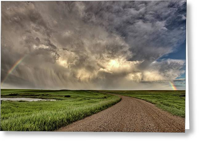 Flour Greeting Cards - Storm Clouds Prairie Sky Saskatchewan Greeting Card by Mark Duffy