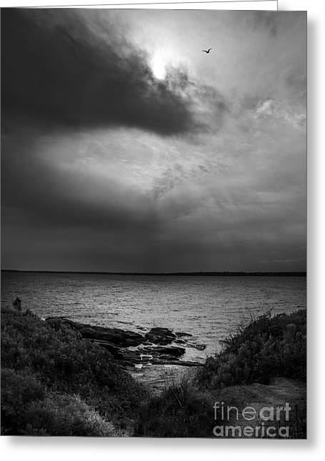 Summer Storm Photographs Greeting Cards - Storm Coming In Greeting Card by Diane Diederich