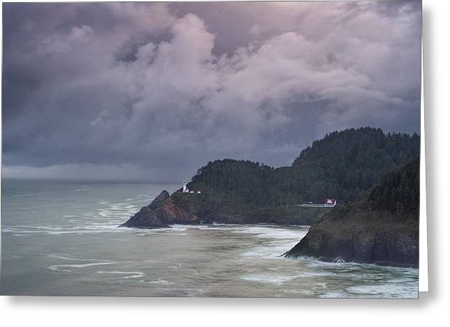 Ocean Art Photographs Greeting Cards - Storm Rolling In Greeting Card by Andrew Soundarajan