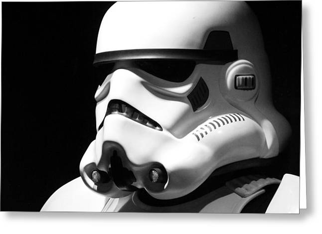 Star Greeting Cards - Stormtrooper Greeting Card by Chris Thomas