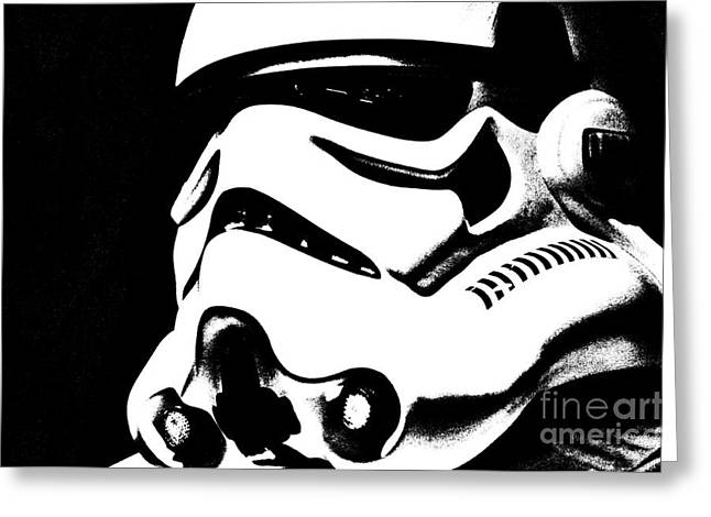 Science Fiction Greeting Cards - Stormtrooper Helmet 27 Greeting Card by Micah May
