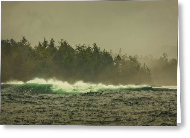 Ocean Landscape Greeting Cards - Stormy Day Greeting Card by Naman Imagery