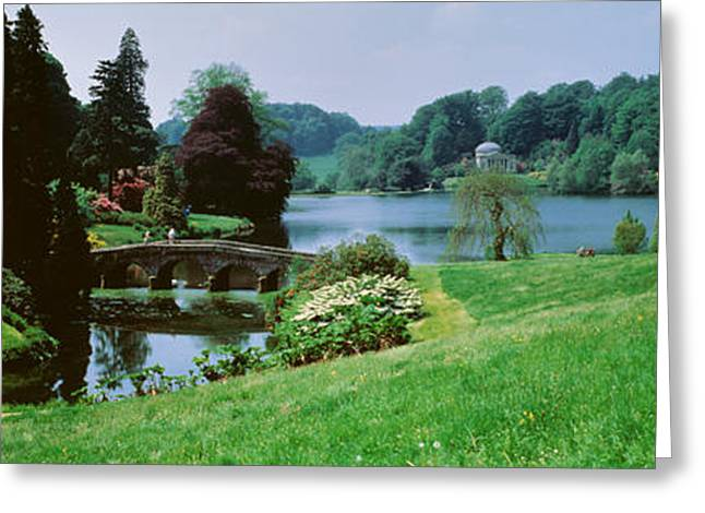 Naturalistic Greeting Cards - Stourhead Garden, England, United Greeting Card by Panoramic Images