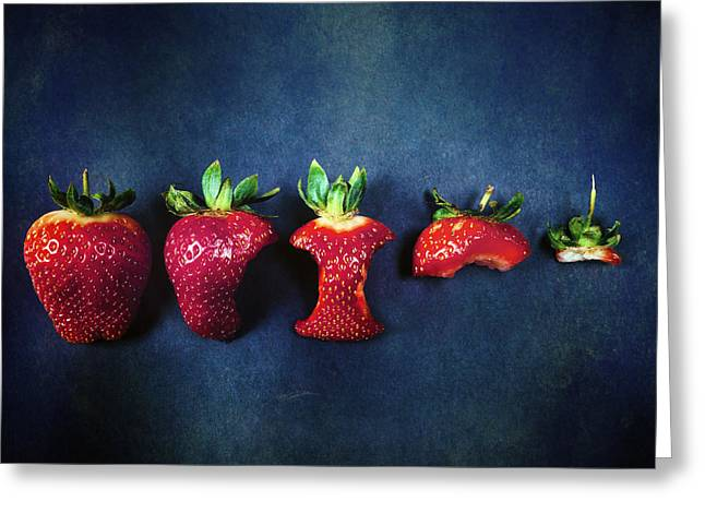 Vernal Greeting Cards - Strawberries Greeting Card by Joana Kruse