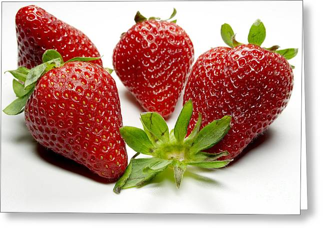 Lebensmittel Greeting Cards - Strawberry Greeting Card by   Bullysoft