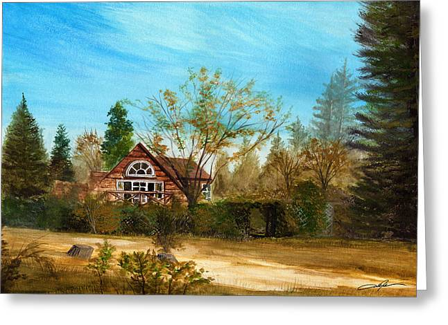 Strawberry Art Paintings Greeting Cards - Strawberry Lodge Greeting Card by Dale Jackson