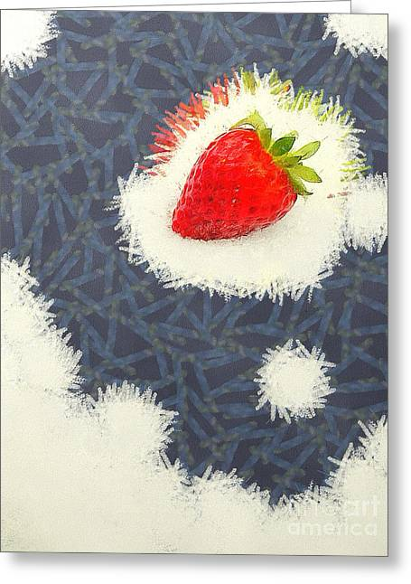 Huckleberry Paintings Greeting Cards - Strawberry Greeting Card by Odon Czintos