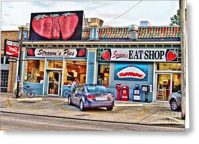 Local Food Greeting Cards - Strawns Eat Shop Greeting Card by Scott Pellegrin