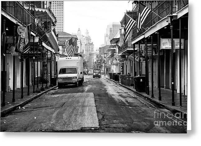 Rue Bourbon Greeting Cards - Street Cleaning Greeting Card by John Rizzuto