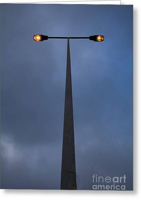Streetlight Greeting Cards - Street-lamp At Evening Greeting Card by Jose Elias - Sofia Pereira