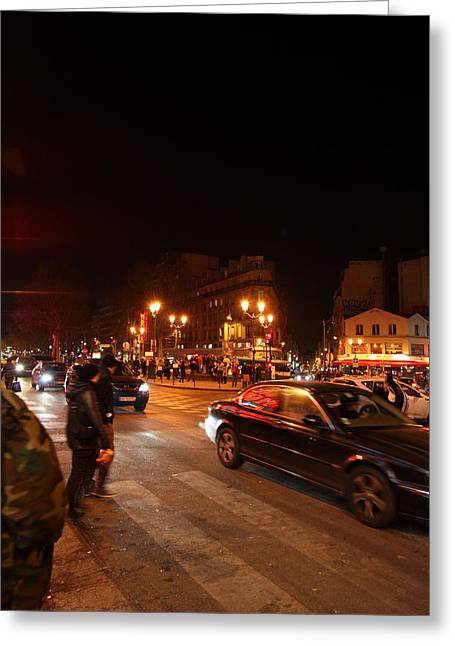 Franch Greeting Cards - Street Scenes - Paris France - 011318 Greeting Card by DC Photographer