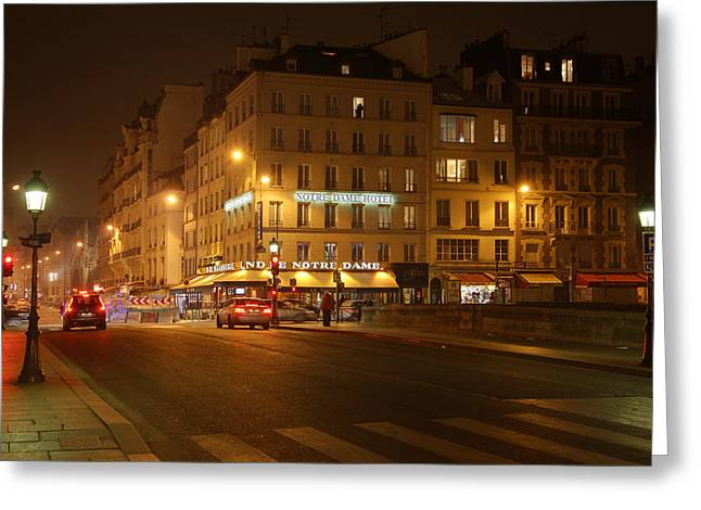 Street Greeting Cards - Street Scenes - Paris France - 011326 Greeting Card by DC Photographer