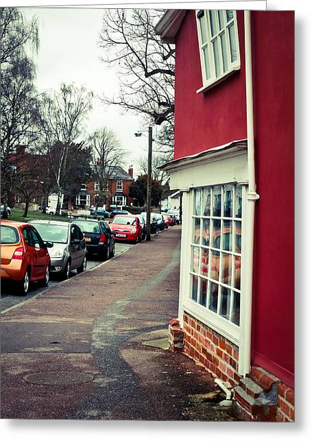 Clare Greeting Cards - Street view Greeting Card by Tom Gowanlock