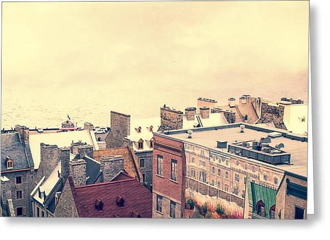 Streets of Old Quebec City Greeting Card by Edward Fielding