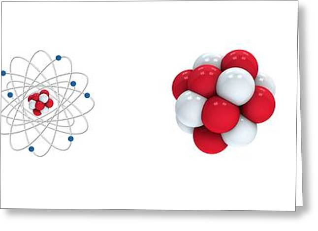 Neutron Greeting Cards - Structure of matter, artwork Greeting Card by Science Photo Library