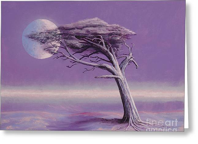Fantasy Tree Art Greeting Cards - Struggle Greeting Card by Jerry McElroy