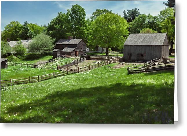 Sturbridge Village Greeting Cards - Sturbridge Village Farm Greeting Card by Edmund Prescottano