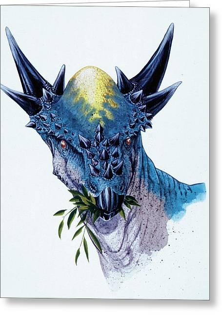 Stygimoloch Dinosaur Greeting Card by Deagostini/uig