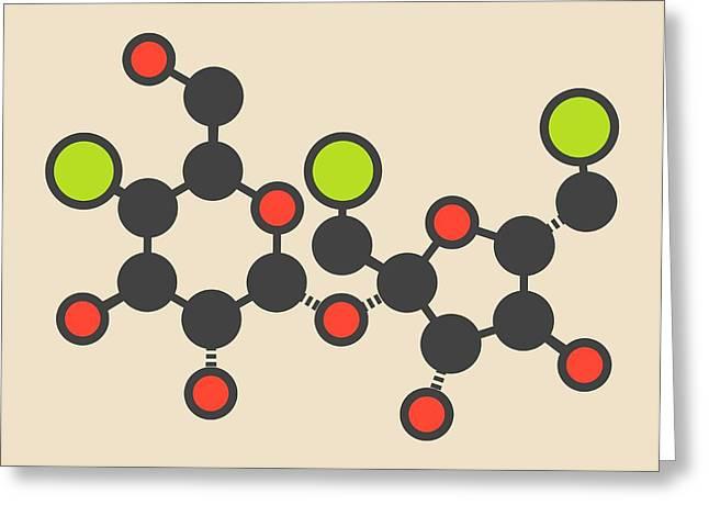 Sucralose Artificial Sweetener Molecule Greeting Card by Molekuul