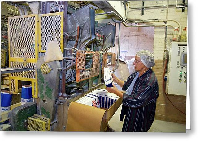 Sugar Packaging Machinery Greeting Card by Jim West