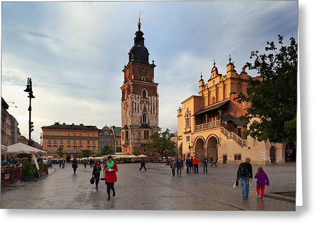 Market Square Greeting Cards - Sukiennice, The Renaisssance Cloth Greeting Card by Panoramic Images