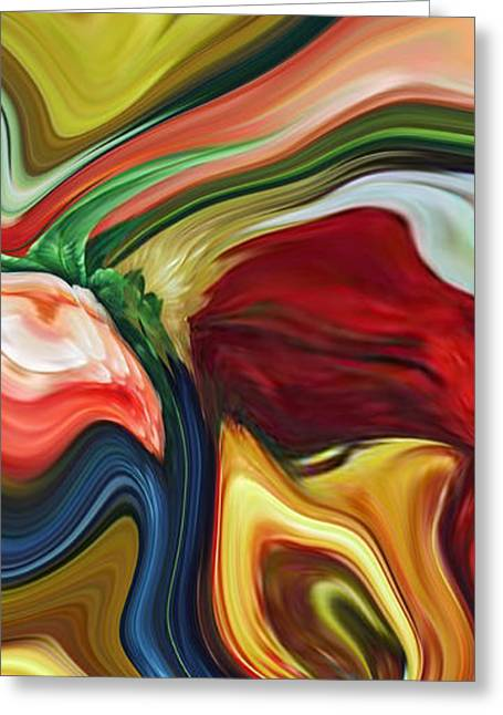 Abstract Expressionist Greeting Cards - Sum of All Suburban Daydreams Triptych Greeting Card by Chad Miller