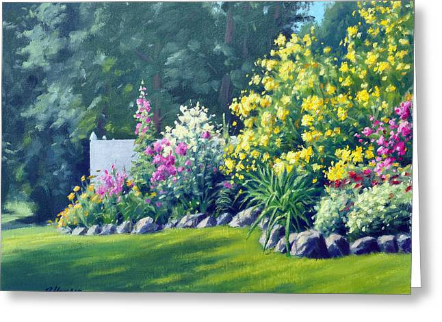 Park Scene Paintings Greeting Cards - Summer Bouquet Greeting Card by Rick Hansen