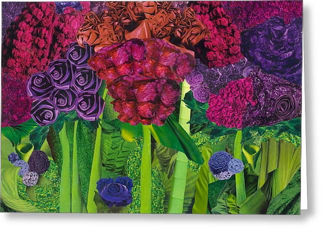 Vivid Colour Mixed Media Greeting Cards - Summer Greeting Card by Denise Mazzocco