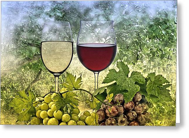 Vine Leaves Greeting Cards - Summer evening Greeting Card by Manfred Lutzius