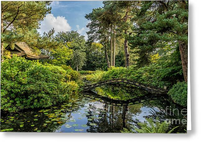 Summer House Greeting Cards - Summer Garden Greeting Card by Adrian Evans