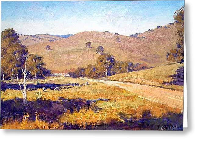 Shed Paintings Greeting Cards - Summer Landscape Greeting Card by Graham Gercken